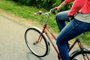 自転車によく乗る女性